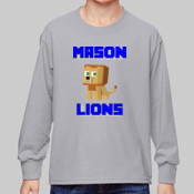 Minecrafter - 4930B Fruit of the Loom Youth 5oz. 100% Heavy Cotton HD™ Long-Sleeve T-Shirt